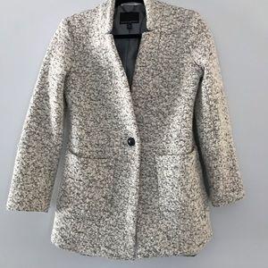 Banana Republic black and white wool coat